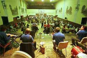 Band's eye view of the final ceili in Tubbercurry with music by Swallows Tail.