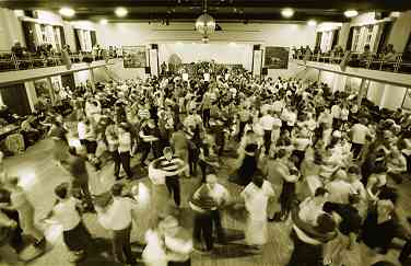 The view from the balcony at the Seapoint Ballroom, Salthill, was mesmeric. Shown here is the final Galway International Set Dancing Festival in March 1999.