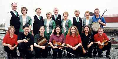 The Nenagh musicians and dancers on their trip to the Shetland Isles.