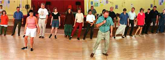 Mairéad Casey and Mick Mulkerrin taught a class at the Willie Clancy Summer School, July 2000, in sean nós dancing, the first time this class has been held in Miltown. Around seventy students spent a successful week learning Mick's steps.