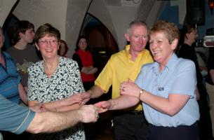 Fun at the Wednesday night ceili at the Grand Hotel, Killarney.