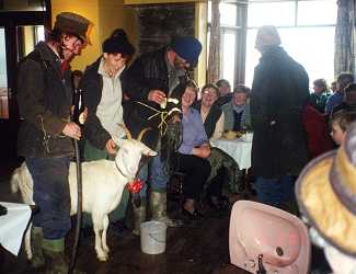 Everything from a goat to the bathroom sink was auctioned in Glandore. Photo by Janet Robertson.