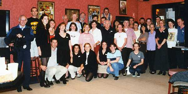 Ciarán Condron and attendees at his workshop in Sydney in May 2001. Thanks to Siobhan for the photo.