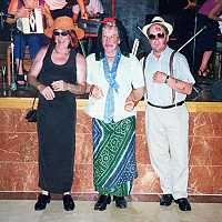 A few strange faces from the fancy dress competition at the Fleadh España in Ibiza in April 2001. Photos by Phyllis Brosnan.
