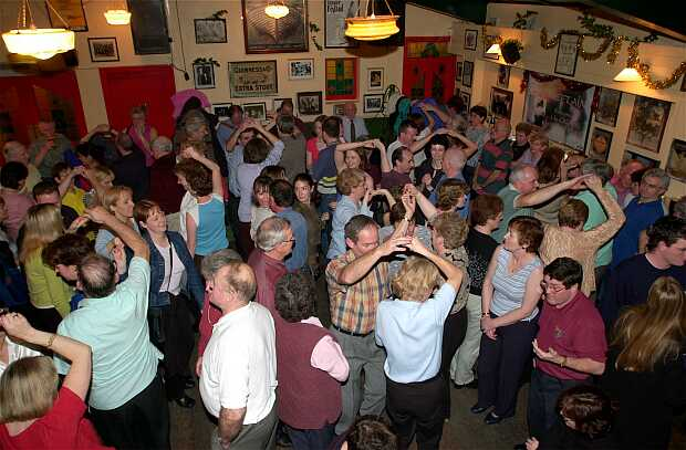 The Yard Bar of Matt Molloy's Pub, Westport, Co Mayo, where the Plain Set was danced on the opening night of the Westport set dancing weekend.