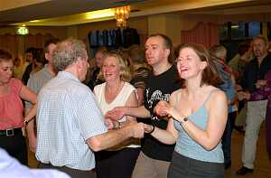 Some of the dancers who enjoyed themselves at the weekend in Westport.