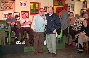 At the Sunday night session in Molloy's Yard Bar there were songs and jokes from Mick Lavalle and Seamus Regan.