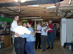 Larry and Lenette Taylor's basement dance hall. Photo by Dave Braun.